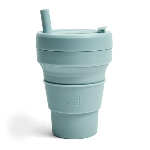 Stojo: 16 oz. Collapsible Cup in Aquamarine