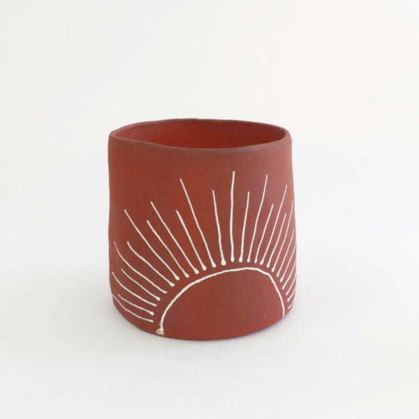 Kelsey Melville Ceramics: Sunshine Planter in Terracotta