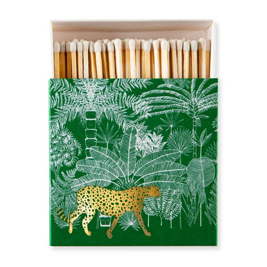 Archivist: Luxury Matches in Cheetah Jungle, Green
