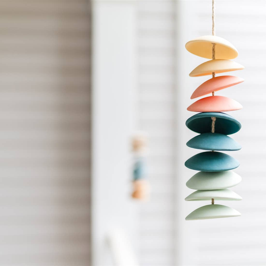 Ceramic Chimes in Cool/Warm Gradient