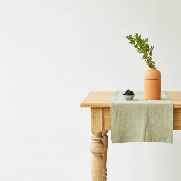 Linen Table Runner in Sage