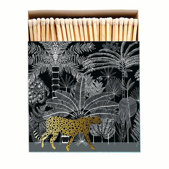 Archivist: Luxury Matches in Cheetah Jungle, Black