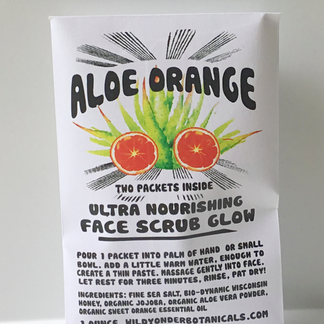 Wild Yonder Botanicals: Aloe Orange Face Scrub Glow