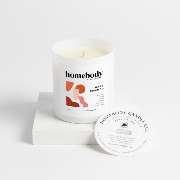 Homebody Candle Co.: Hazy Summer Burn + Bloom Candle
