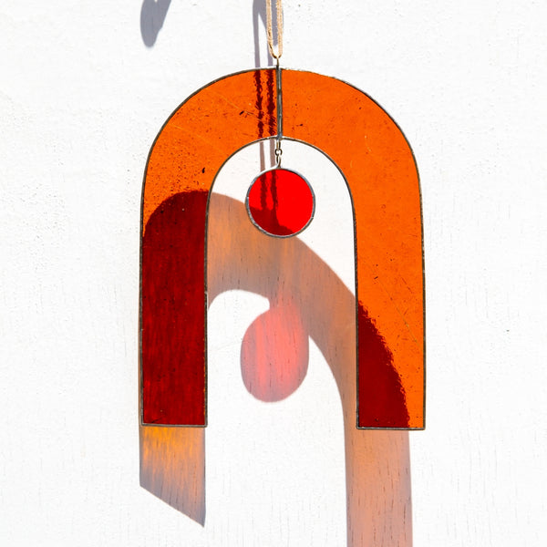 Movement One Arch Sun Catcher in Electric Orange & Red