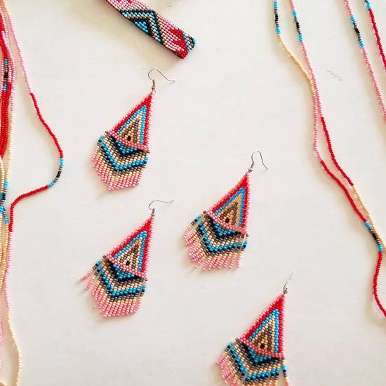 Fosterie: Bubble Gum Beaded Earrings
