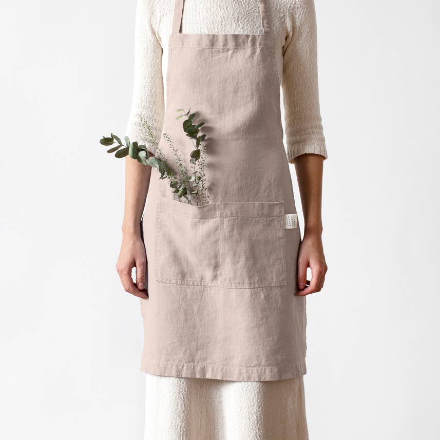 Linen Apron in Portobello