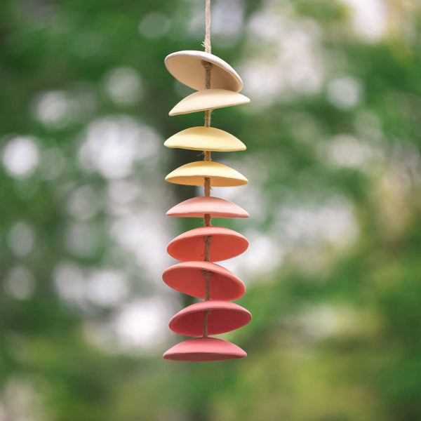 Ceramic Chimes in Warm Gradiant