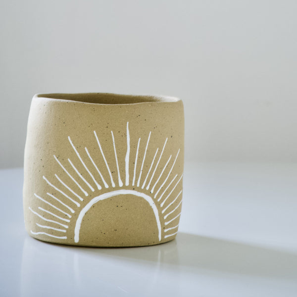 Kelsey Melville Ceramics: Sunshine Planter in Goldstone