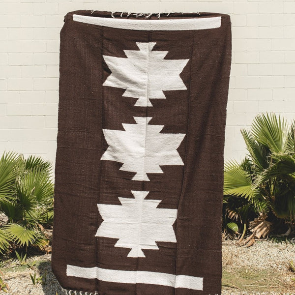 Petra De Luna: Palenque Blanket in Brown