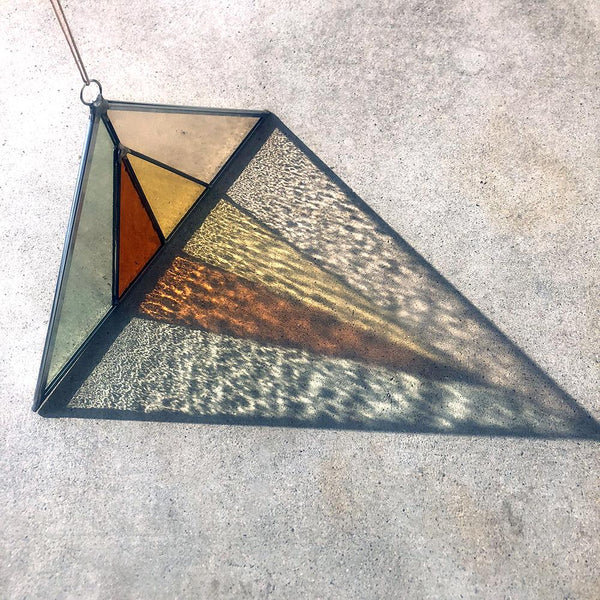 Debbie Bean: Triangle Suncatcher in Field