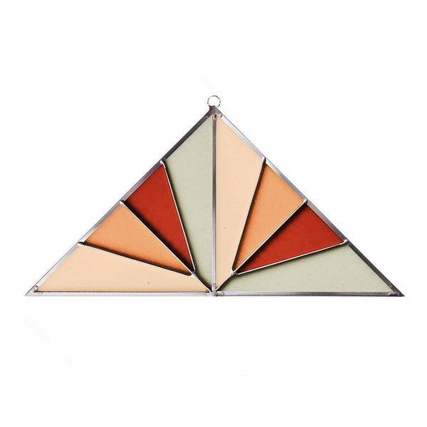 Debbie Bean: Large Triangle Suncatcher in Field
