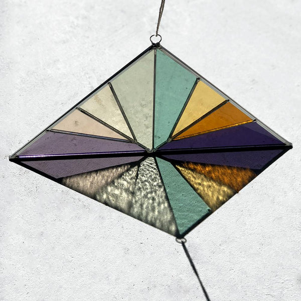Debbie Bean: Large Triangle Suncatcher in Summer