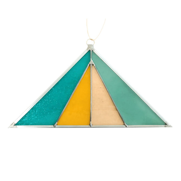 Debbie Bean: Triangle Suncatcher in Ocean