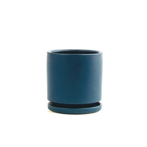 Gemstone Saucer Pots in Midnight Blue