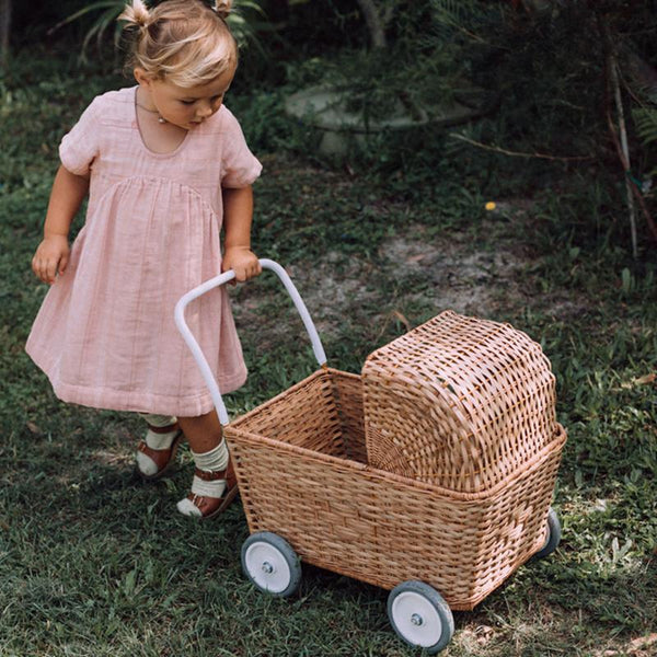 Olli Ella: Clover Toddler Dress in Rose Stripe