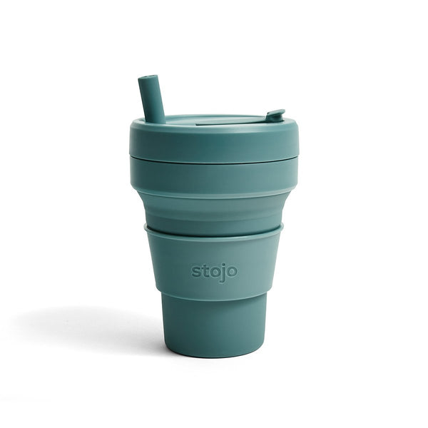 Stojo: 16 oz. Collapsible Cup in Eucalyptus