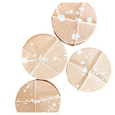Thoughtful Living: Natural Leather White Splatter Coasters