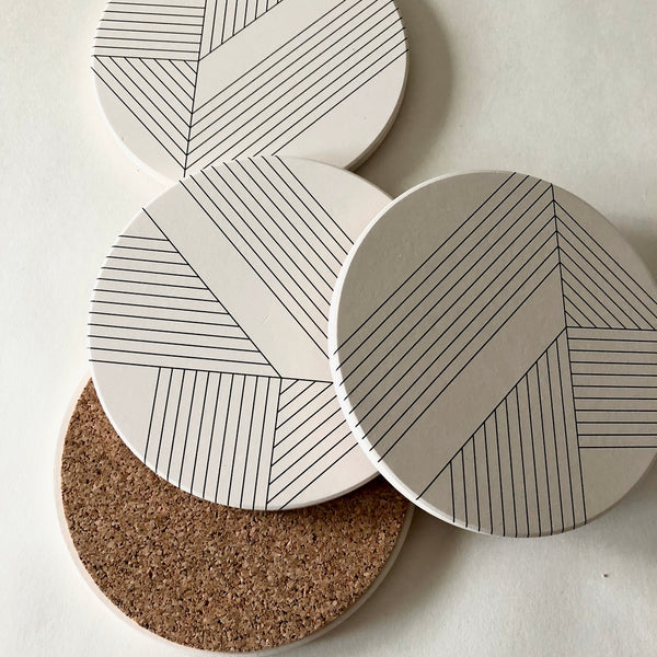 Tramake: Absorbent Stone Coasters in Deco