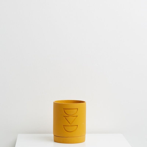 Capra Designs: Etch Planter in Golden