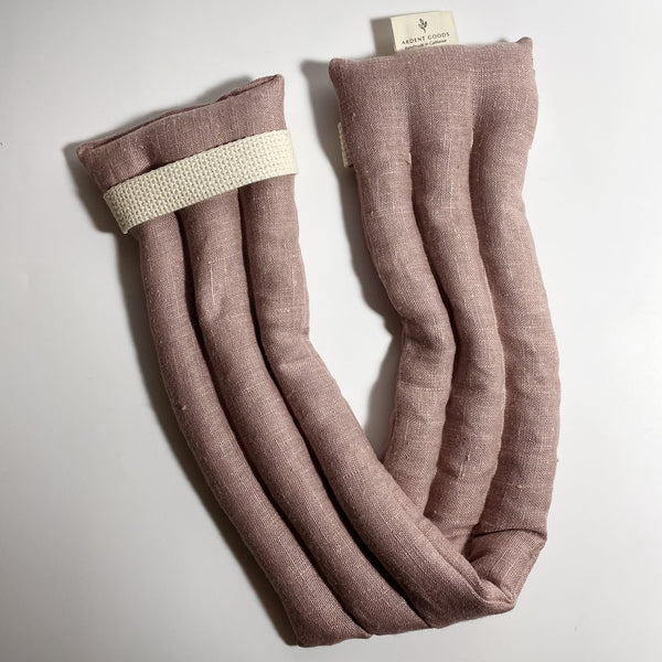 Ardent Goods: Linen Body Comfort Wrap in Shadow Pink