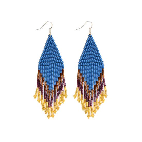 Fosterie: Peacock Beaded Earrings