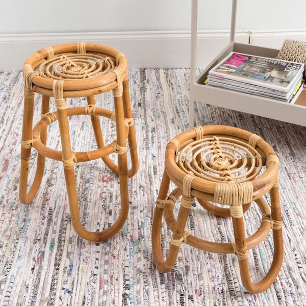 Warm Rattan Plant Stands
