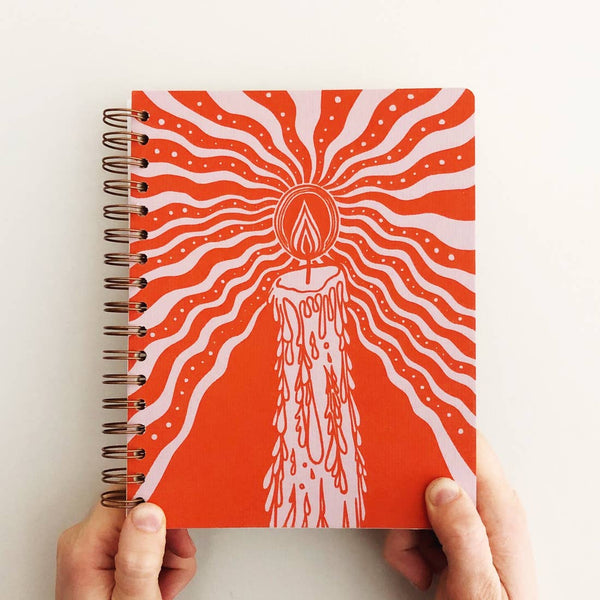 The Rainbow Vision: Candlelight Journal in Orange