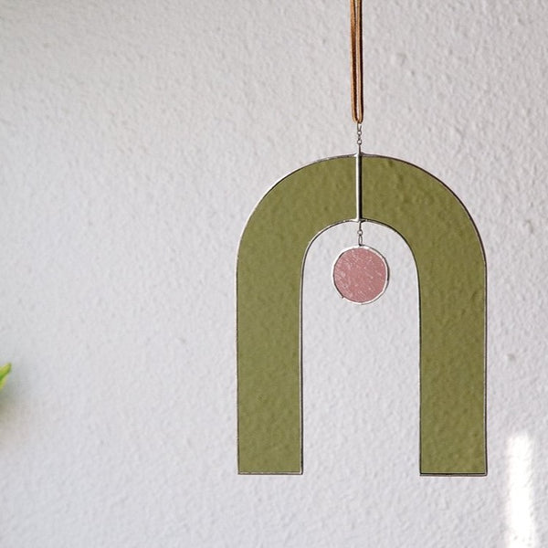 Movement One Arch Sun Catcher in Olive & Rose
