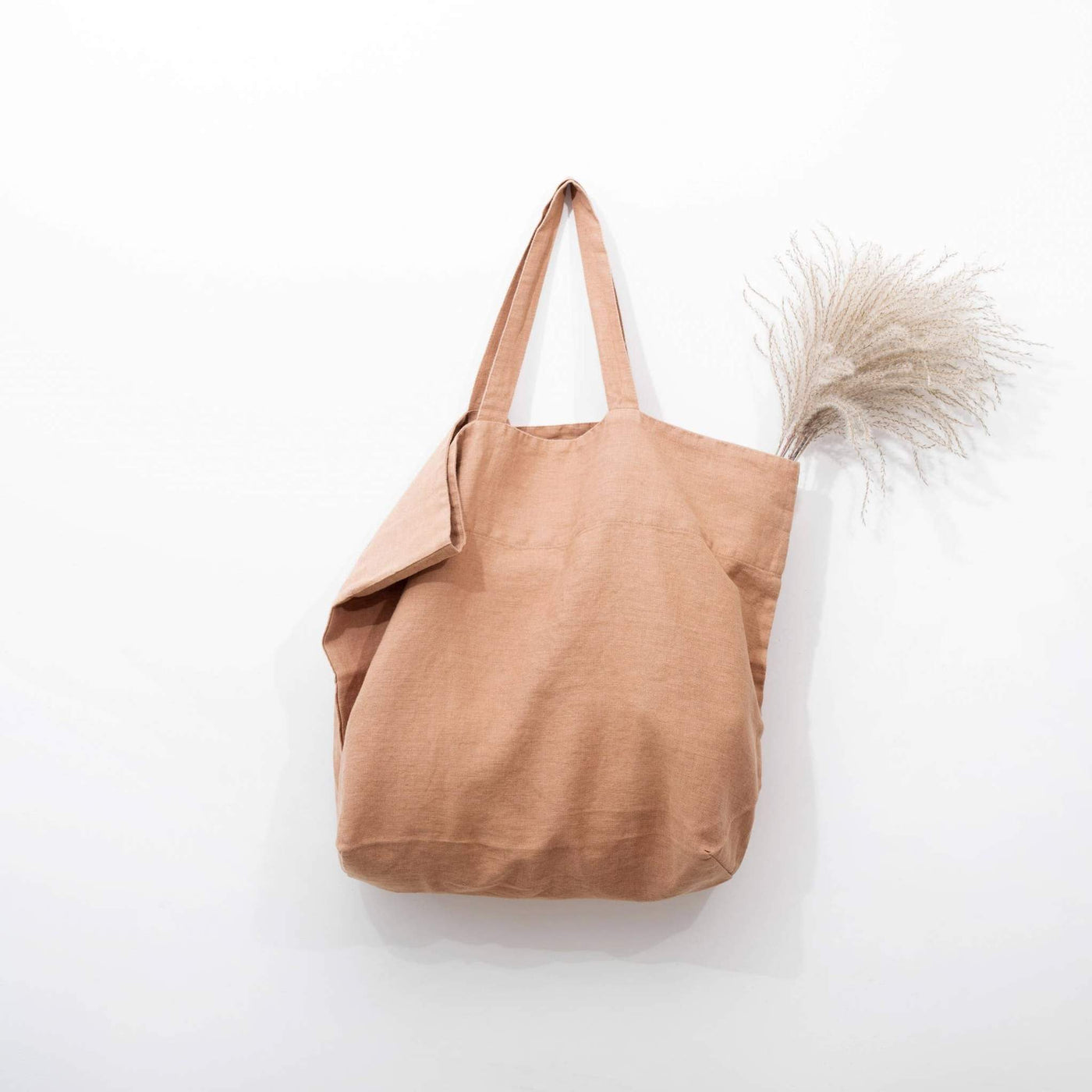 Large Linen Tote in Cafe Creme