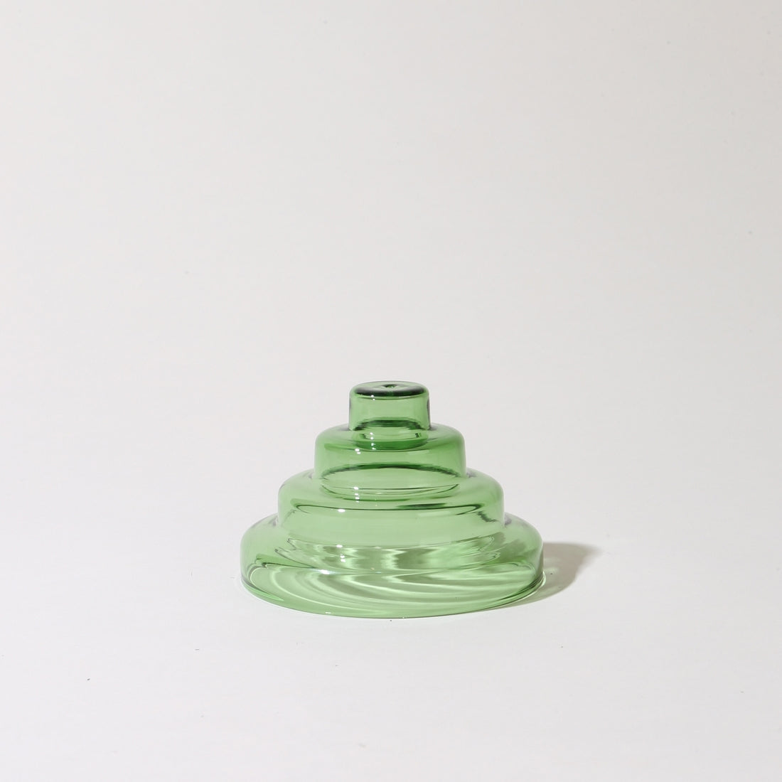Glass Meso Incense Holder in Verde