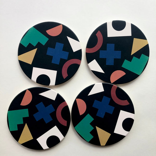 Tramake: Absorbent Stone Coasters in Collage