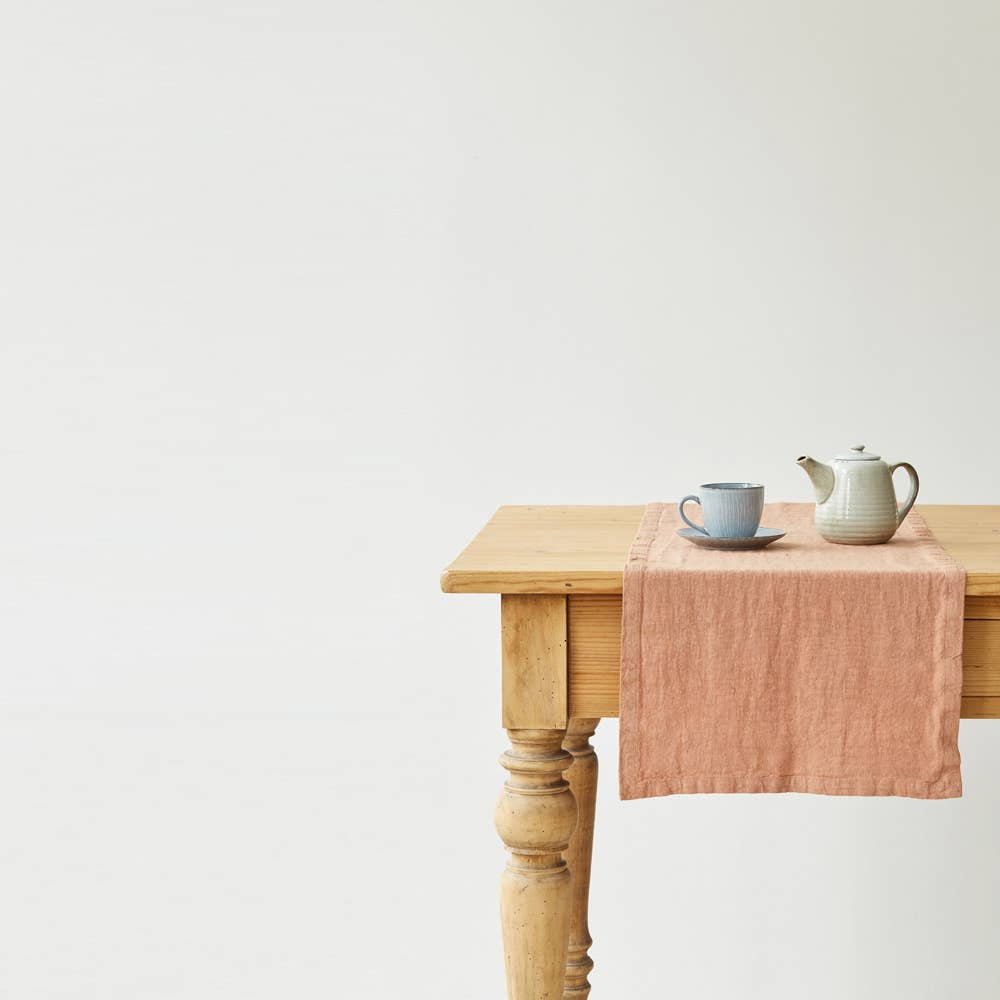 Linen Table Runner in Cafe Creme