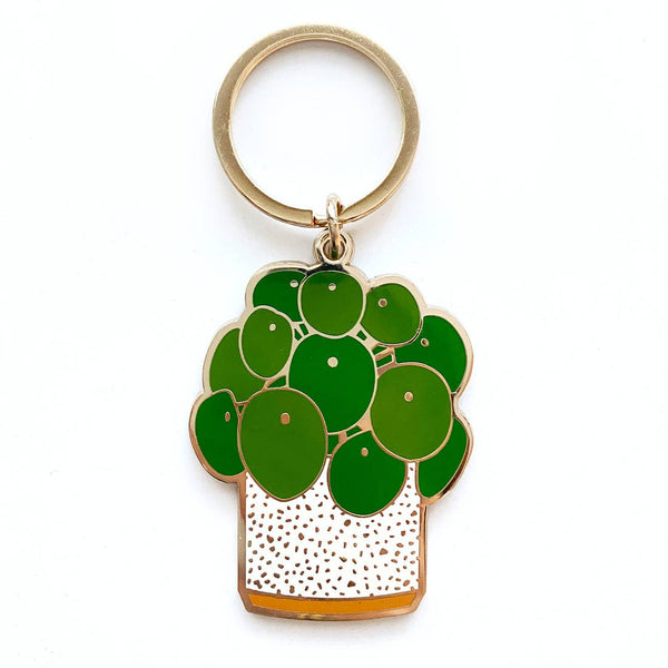 Paper Anchor Co: Pilea Peperomiodes Keychain