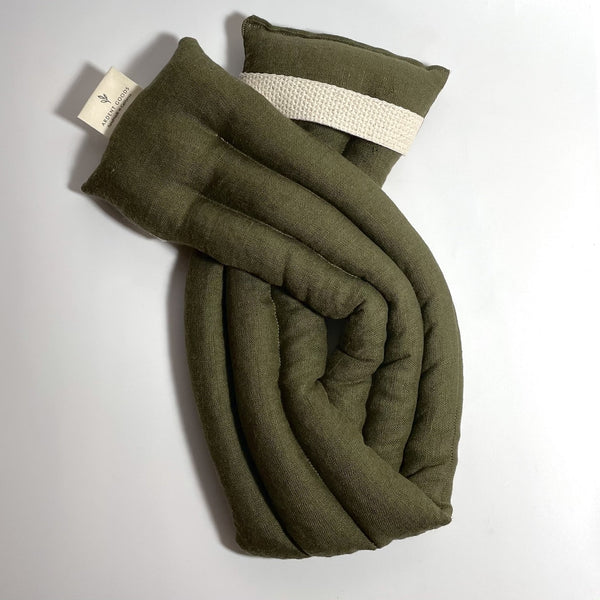 Ardent Goods: Linen Body Comfort Wrap in Dark Moss