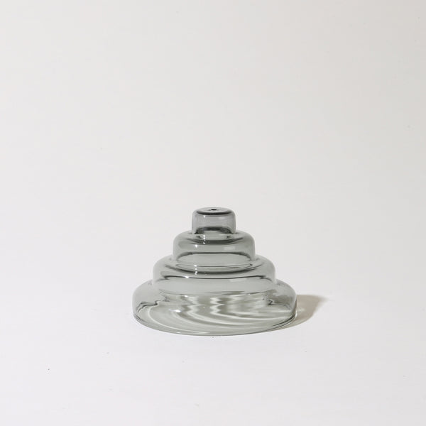 Glass Meso Incense Holder in Gray
