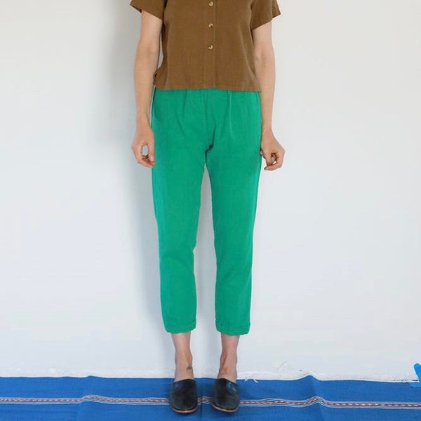 Me & Arrow: Cuff Pants in Spring Green