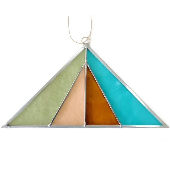 Debbie Bean: Triangle Suncatcher in Sea