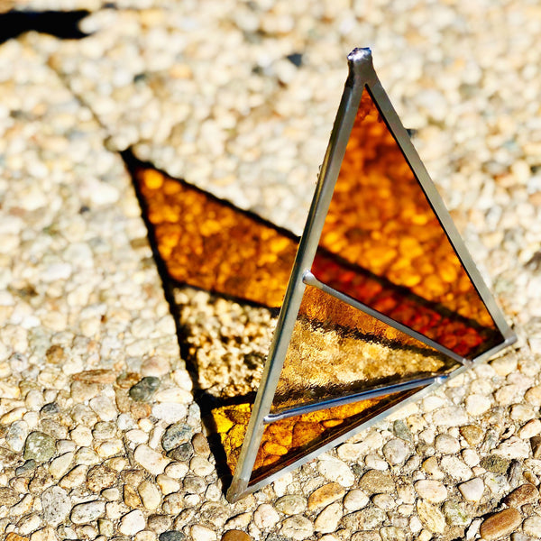 Debbie Bean: Ray's Triangle Suncatcher in Buckwheat
