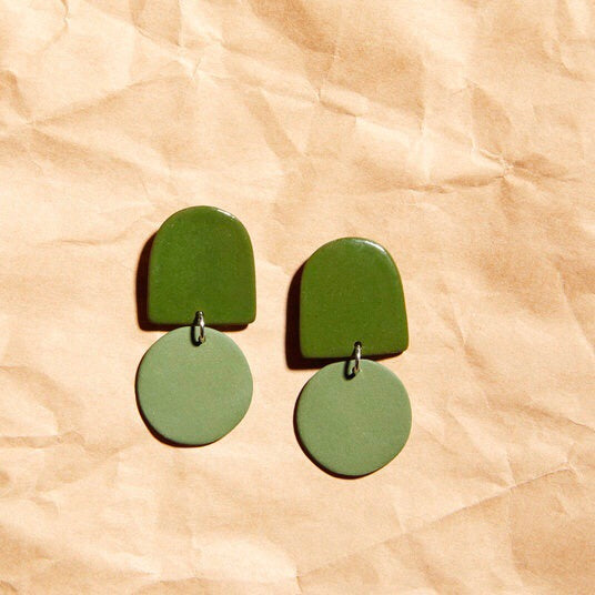 Four Eyes Ceramics: Dome Earrings