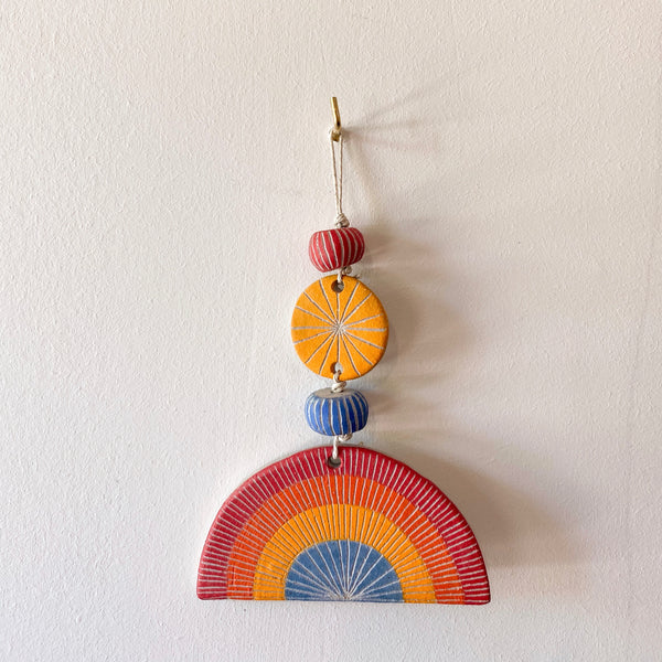 jen e ceramics: End of the Rainbow Wall Hanging