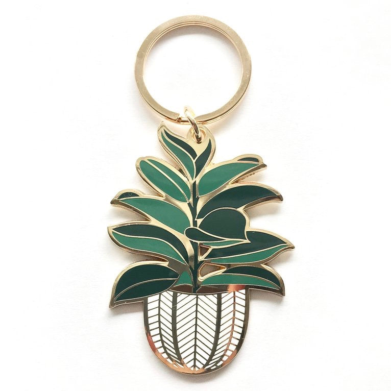Paper Anchor Co.: Enamel Rubber Tree Keychain