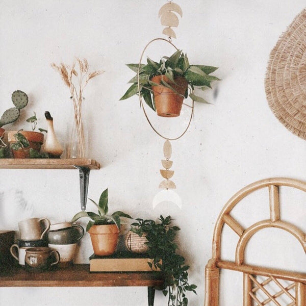 Vida + Luz: Dance of the Harvest Moon Hanging Planter