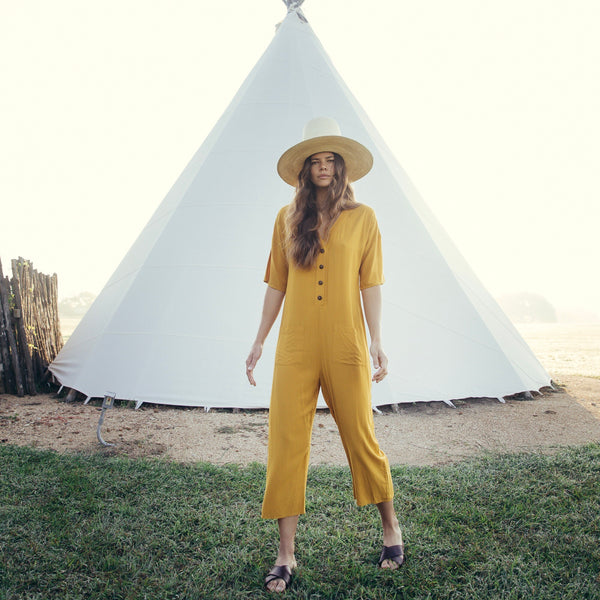 Tysa: Playdate Jumpsuit in Citrine
