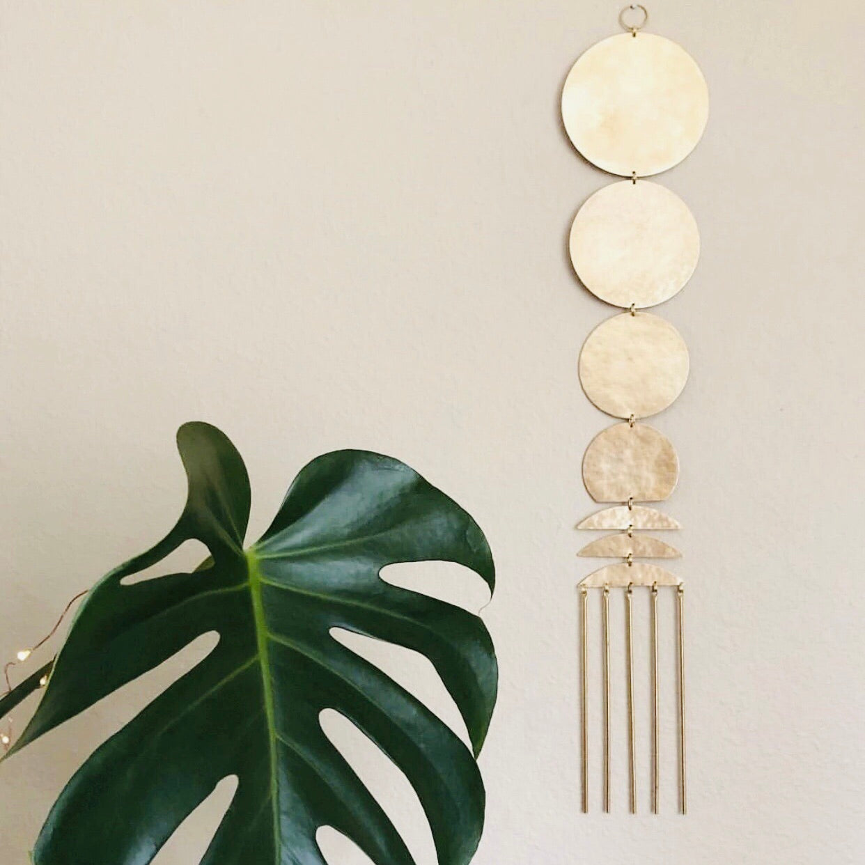 Vida + Luz: Here Comes the Sun Hammered Brass Hanging