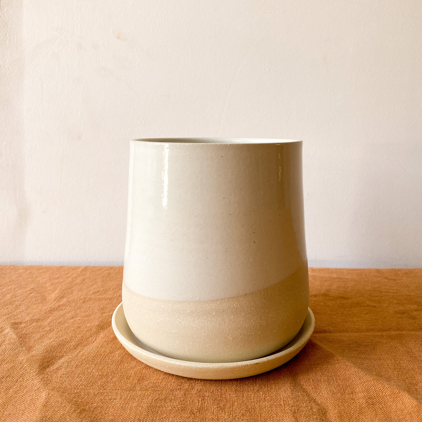 Held: Form Planter #2 in Light Stoneware