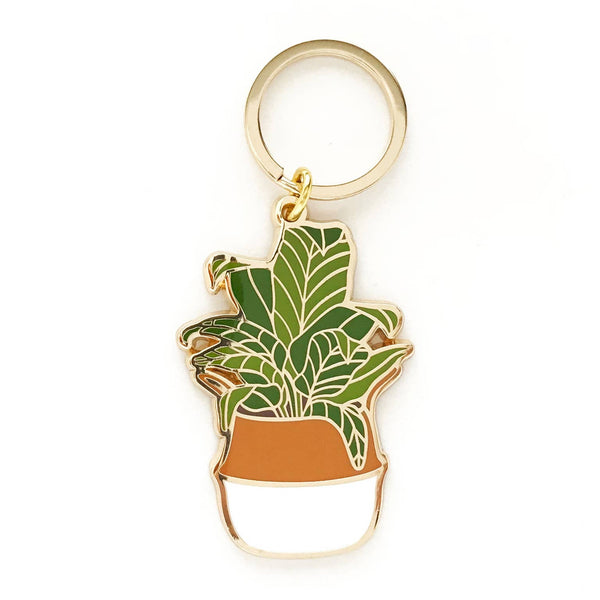 Paper Anchor Co: Banana Leaf Keychain