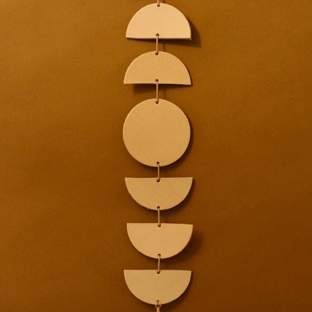 Thoughtful Living: Leather Moon Phases Garland