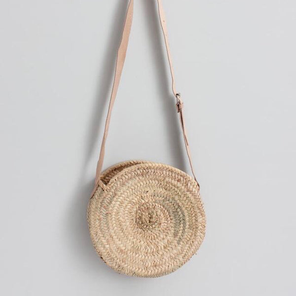 Moroccan Crossbody Basket, Round