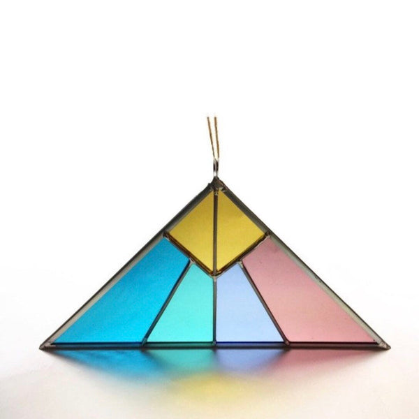Debbie Bean: Pyramid Stained Glass Suncatcher in Pastel